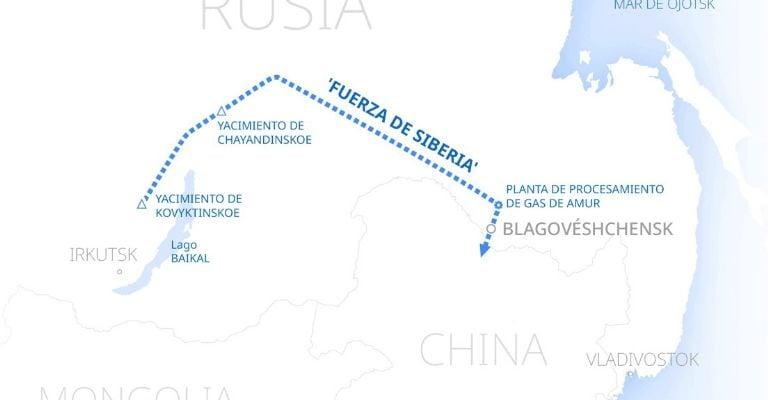 Rusia estrecha sus relaciones con China con un nuevo gasoducto