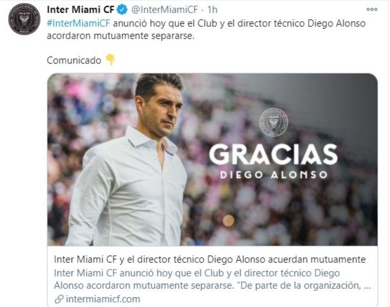 La terminante decisión de Inter Miami sobre el futuro de Diego Alonso