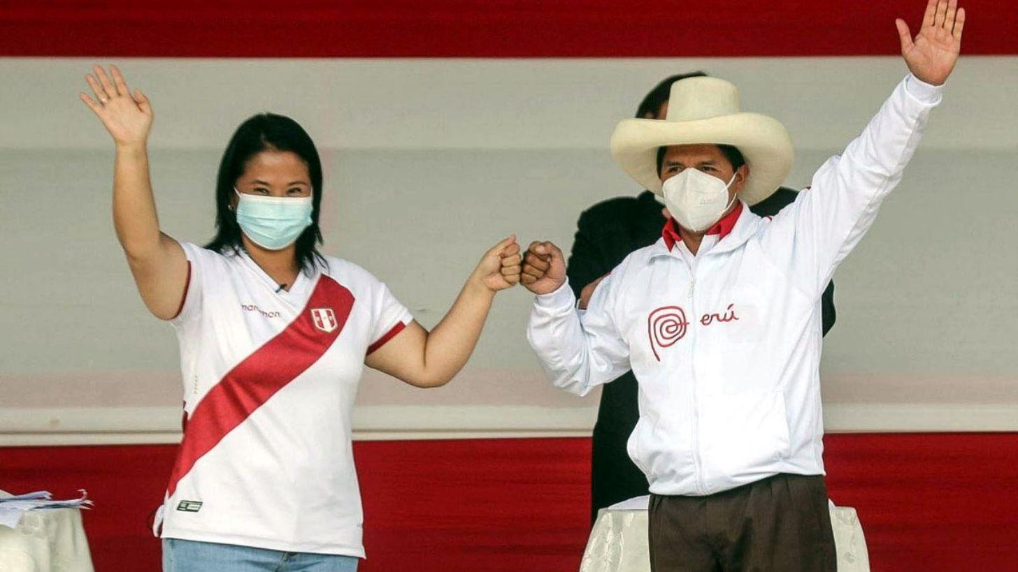 Pedro Castillo y Keiko Fujimori acortan aún más la distancia — Datum